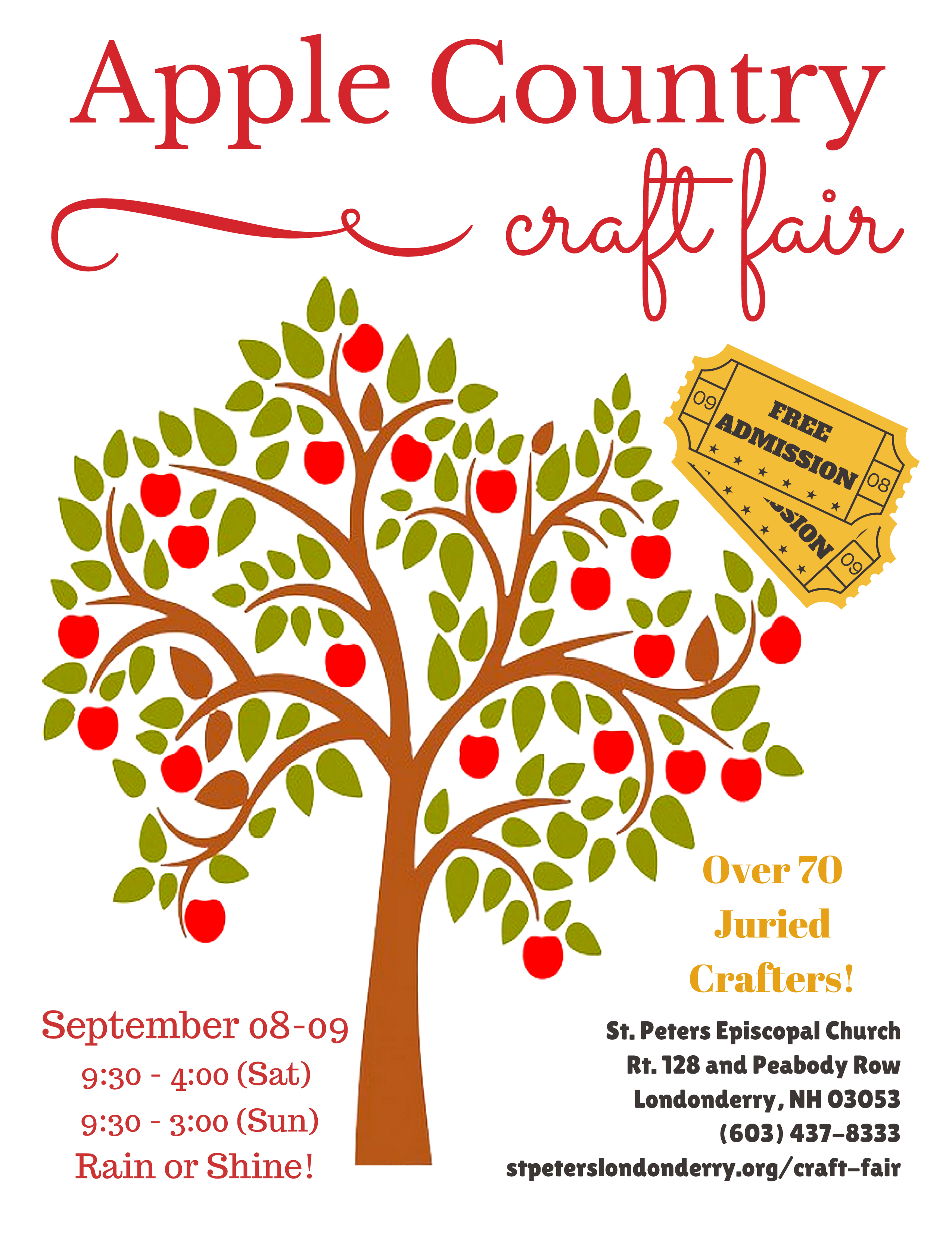 Fallcraft fair poster